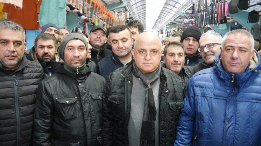 Edirne esnafı Başkan Gürkan'a sahip çıktı