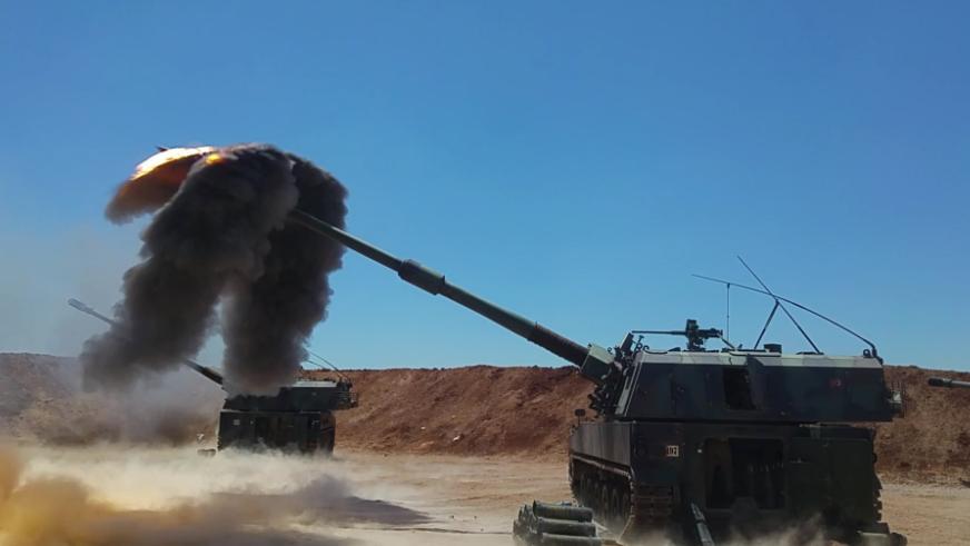 TSK Suriye'de YPG mevzilerini vurdu