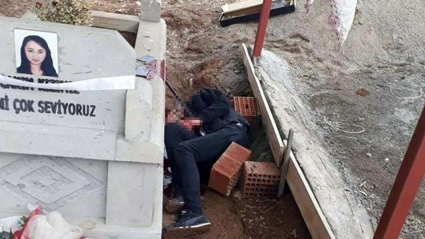 Korkunç olay! Arkadaşının mezarına gidip…