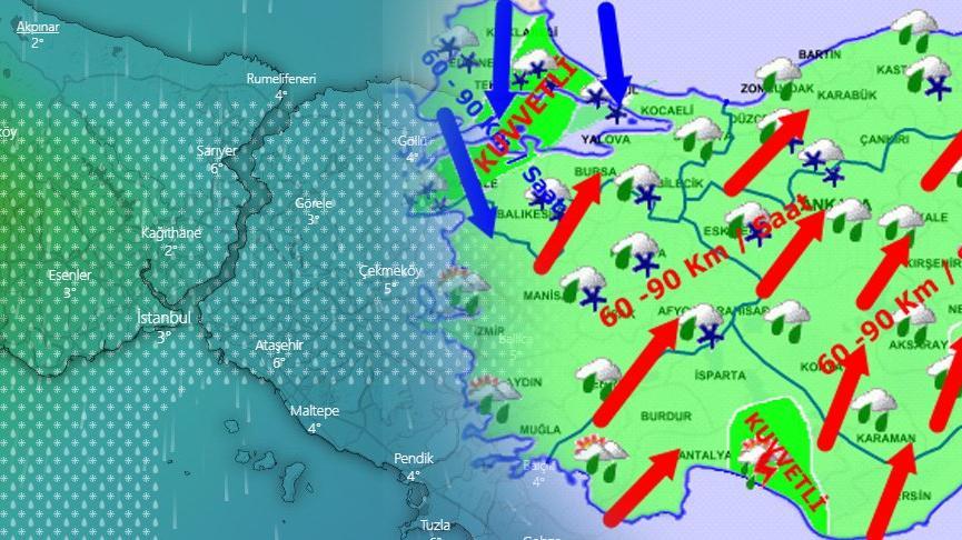 İstanbul'a kar geliyor! Meteoroloji'nin hava durumu raporu korkuttu