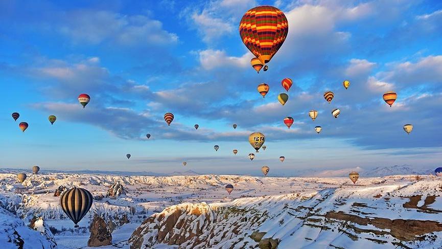 Kapadokya'da eksi 15 derecede balon keyfi