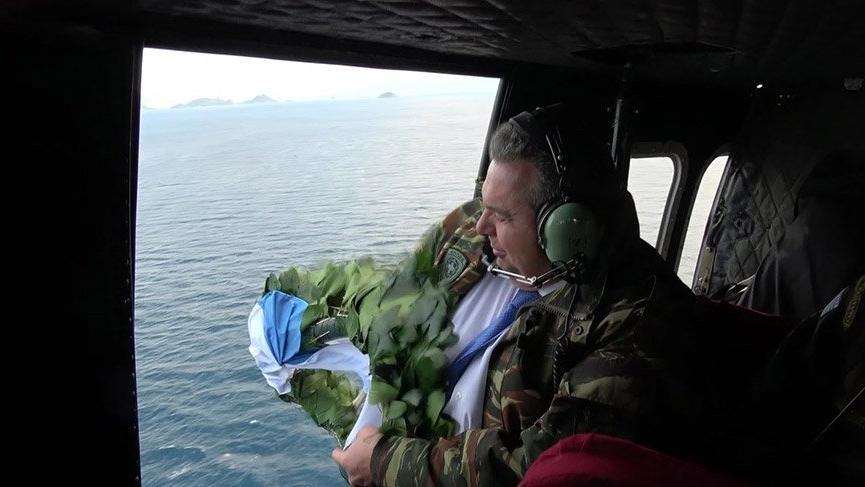Yunan hükümetini dağıtan bakandan Kardak ziyareti