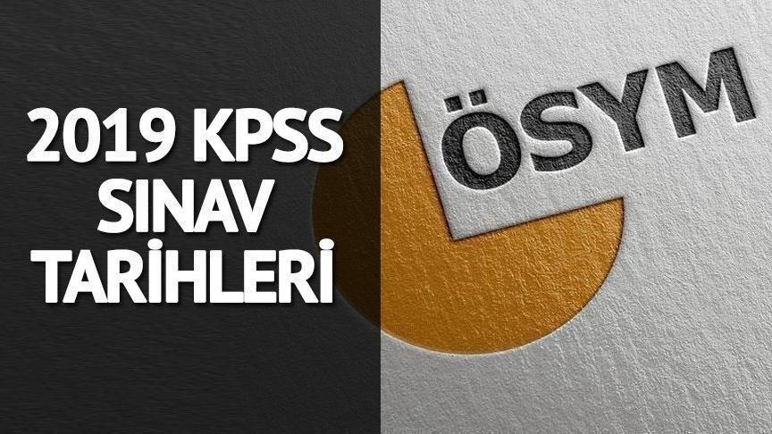 2019 lisans, önlisans, lise KPSS başvuru tarihleri: KPSS ne zaman?