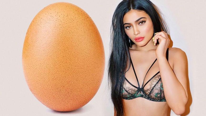 Kylie Jenner'ın rekorunu bir yumurta kırdı!