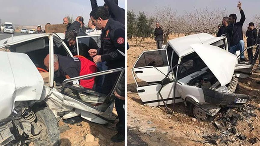 Halfeti'de korkunç kaza! İki araç kafa kafaya çarpıştı: 11 yaralı