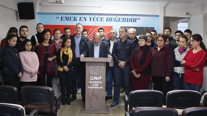 CHP Menemen teşkilatı istifa etti