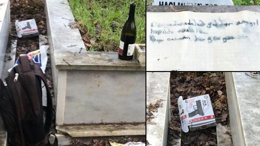 Ukraynacanisi, babasının Pendik'teki mezarına bu notu bırakmış