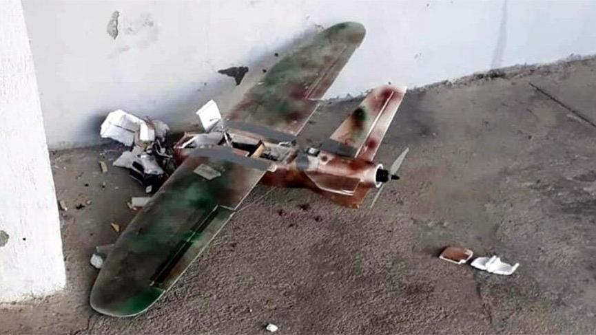 PKK'nın bomba yüklü maket uçağı vuruldu