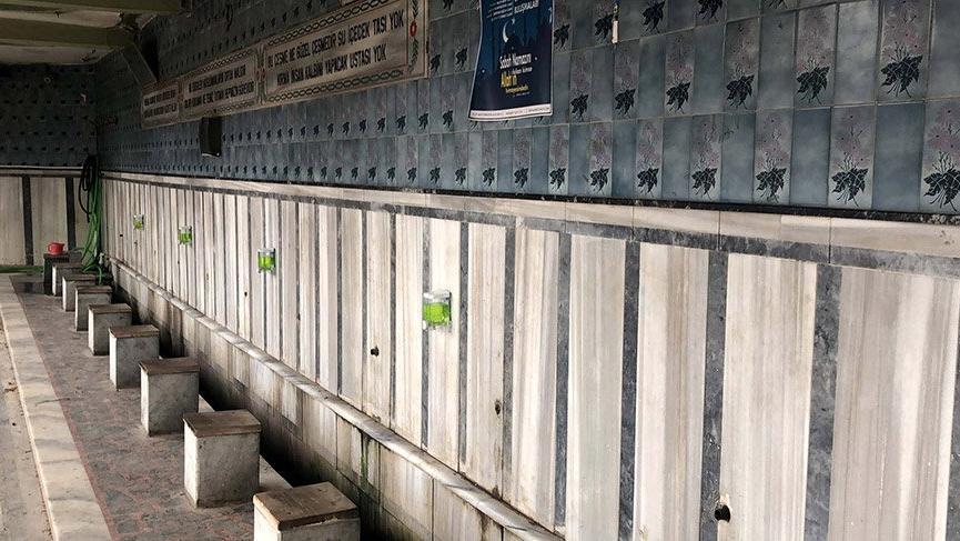 Bursa'da, 2 caminin muslukları çalındı