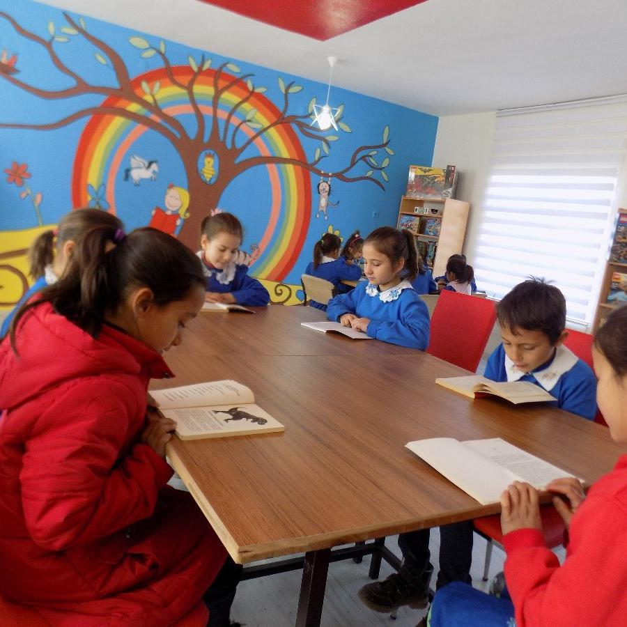 Ortaokul öğrencileri köy okuluna 2 bin kitaplık kütüphane kazandırdı