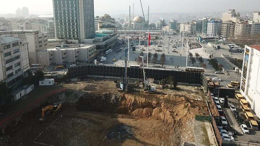 Atatürk Kültür Merkezi'nde temel çalışmaları başladı