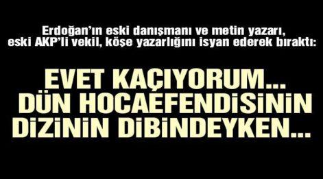 AKP'li eski vekil Aydın Ünal, köşe yazarlığını isyan ederek bıraktı!