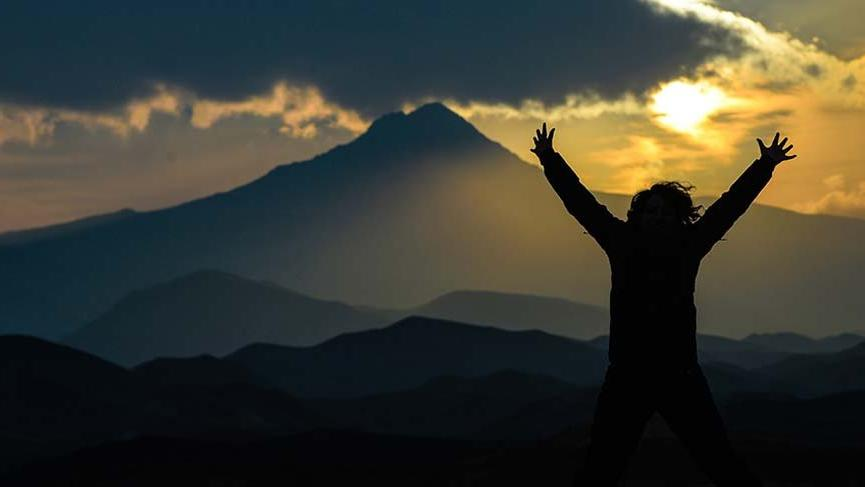 Tekelti Dağı'nda muhteşem görüntü!