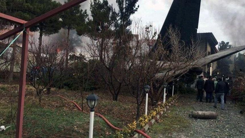 Son dakika… Tahran'da kargo uçağı düştü