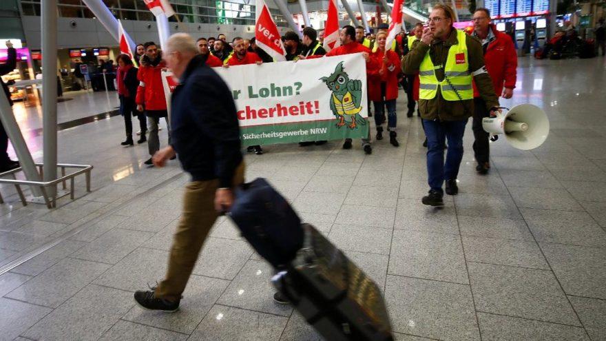 Almanya'da bir grev daha: 643 uçuş iptal, 115.000 yolcu zor durumda