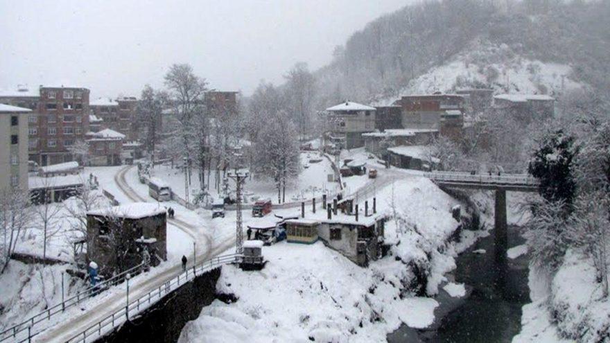 Yoğun kar yağışı 23 binlik ilçede hayatı durdurdu
