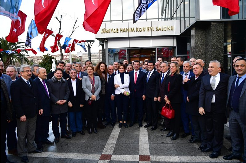 Ekrem İmamoğlu CHP ve İYİ Partililerle İstanbulda bir araya geldi Foto: Sözcü