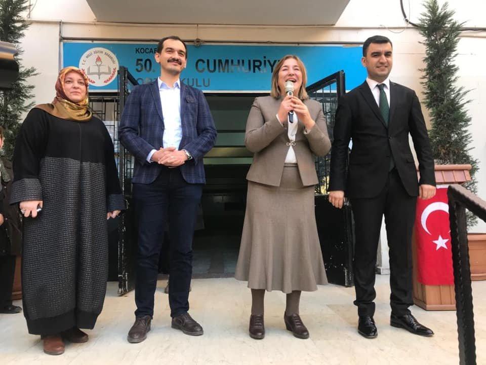 AKP İzmit Belediye Başkan adayı Gönül, karne töreninde konuştu.