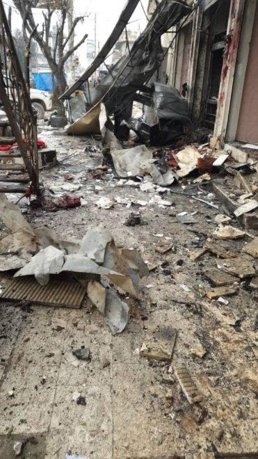 Patlamanın yaşandığı bölgede büyük tahribat oluştu.