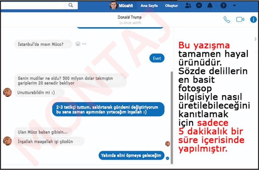 Görselde kullanılan Facebook arayüzü, Türkiye Gazetesi'nin kullandığı ekrandır.