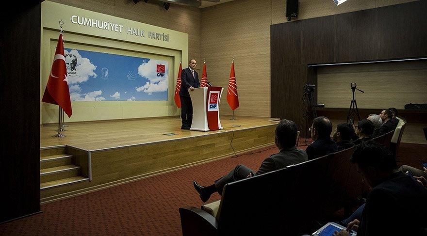 CHP Genel Başkan Yardımcısı ve Parti Sözcüsü Faik Öztrak, parti genel merkezindeki Merkez Yönetim Kurulu (MYK) toplantısınına verilen aradan sonra gazetecilere gündeme dair açıklamalarda bulundu. FOTO:AA