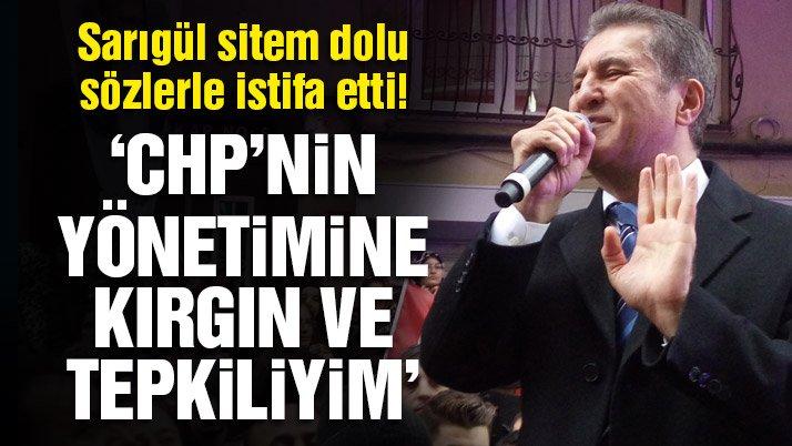Son dakika… Mustafa Sarıgül CHP'den istifa etti