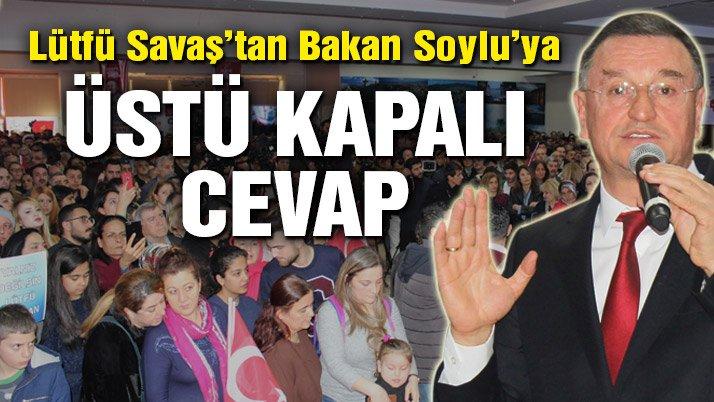 Hatay Büyükşehir Belediye Başkanı Savaş'tan Bakan Soylu'ya üstü kapalı cevap
