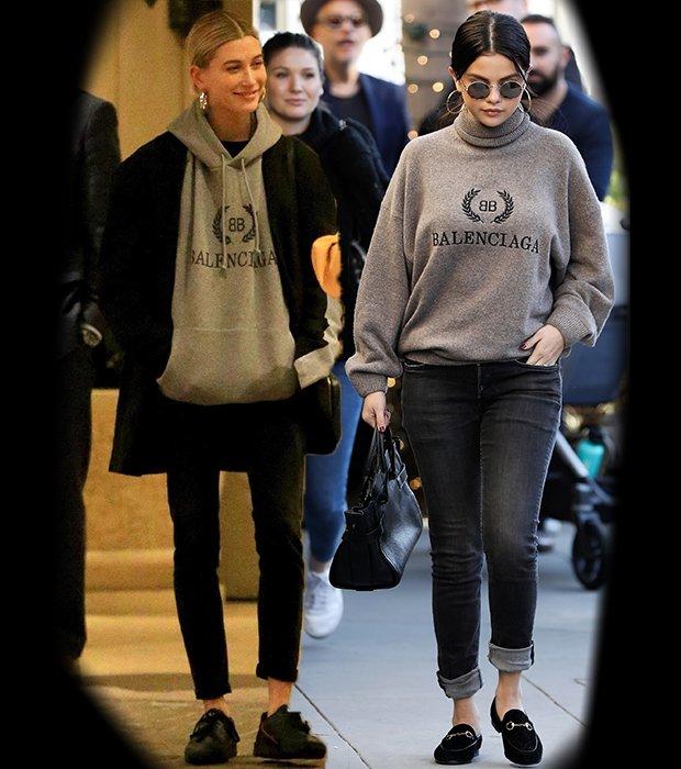 Justin Bieber'ın eski sevgilisi Selena Gomez ve eşi Hailey Baldwin.