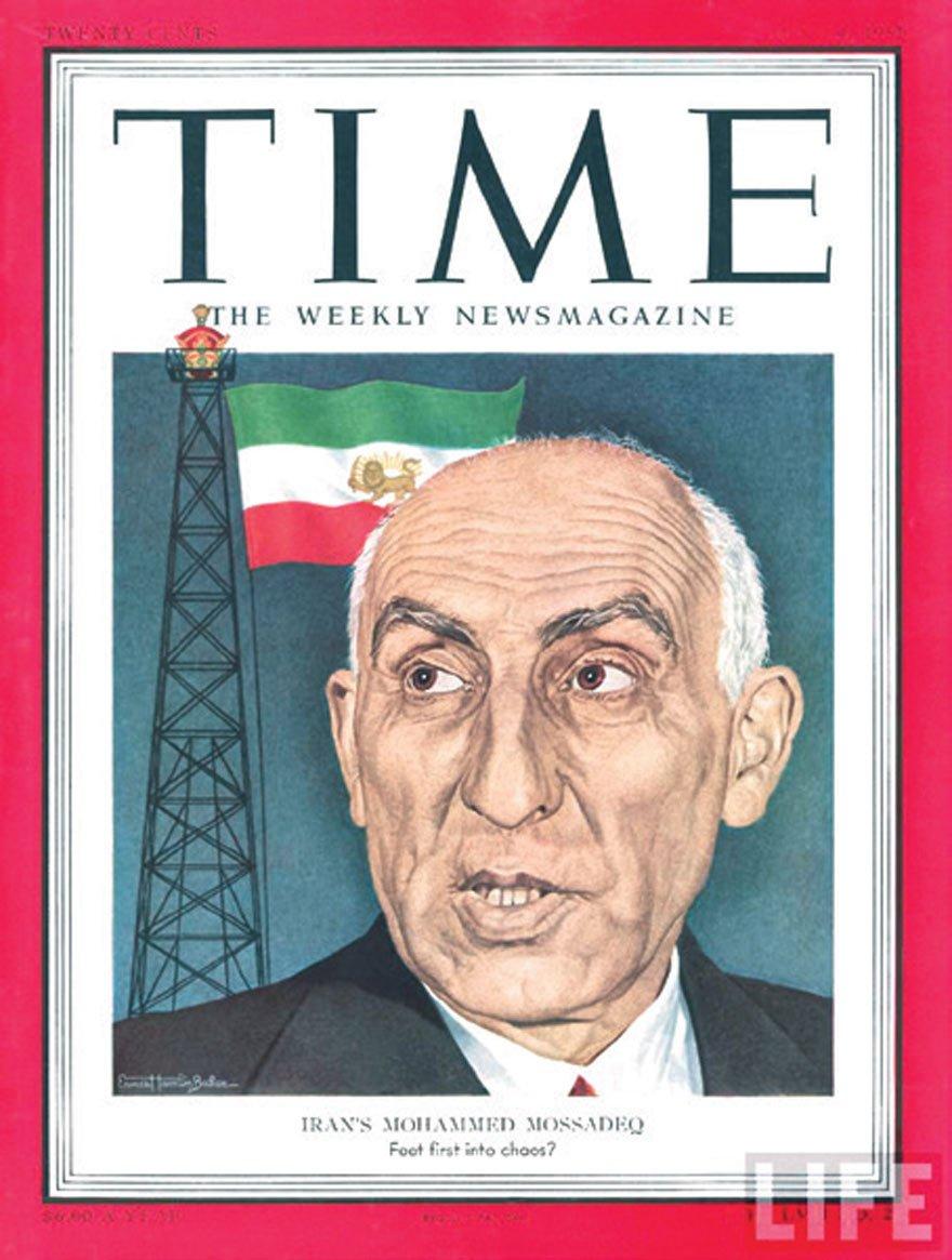 Muhammed Musaddık, 1951'de 'Yılın Adamı' olarak Time dergisine kapak olmuştu.