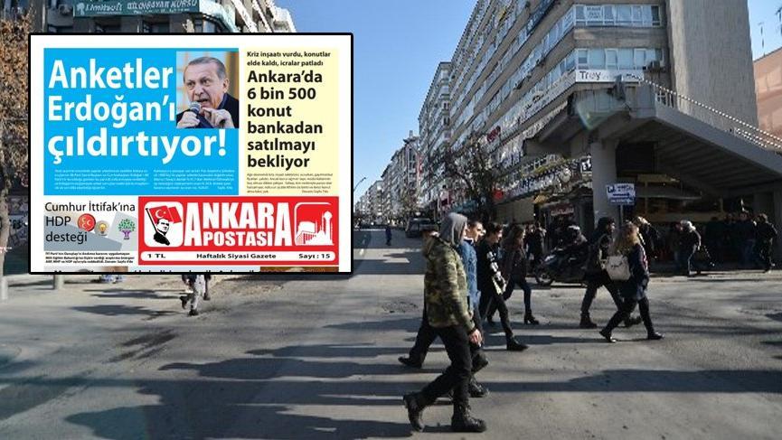 Ankara'da esrarengiz gazete!