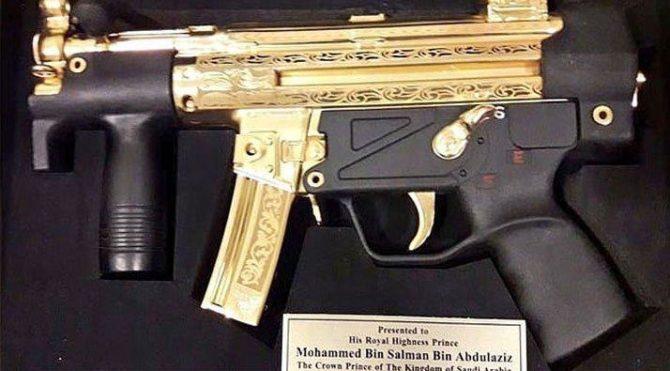Pakistan'dan Prens Selman'a hediye: Altın kaplamalı silah
