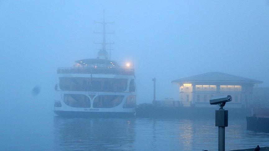 Son Dakika... Deniz ulaşımına sis engeli