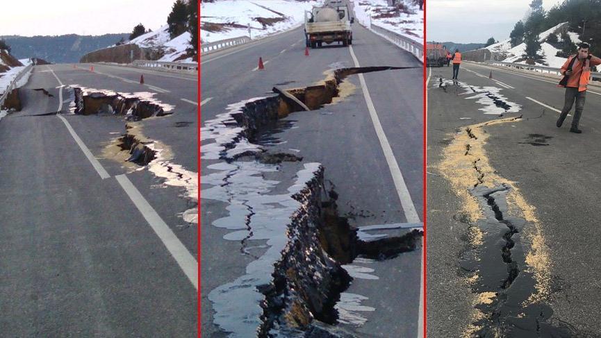 30 milyon liraya mal olan yol bir yılda üç kez çöktü