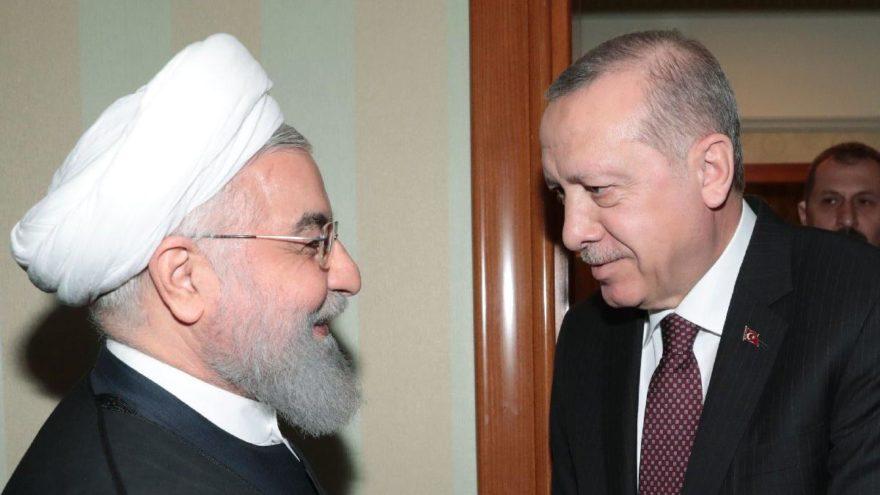 Cumhurbaşkanı Erdoğan Soçi'de… Üçlü zirve öncesi Ruhani'yle ikili görüşme