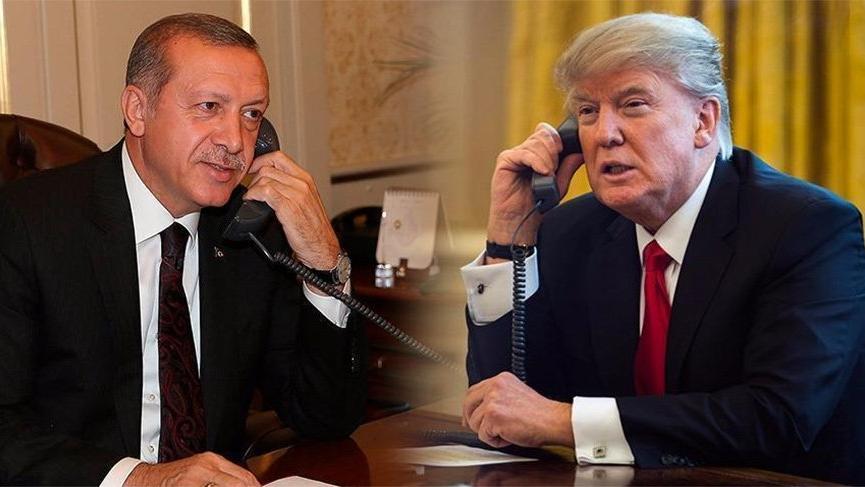 Erdoğan ile Trump'tan gece yarısı görüşmesi