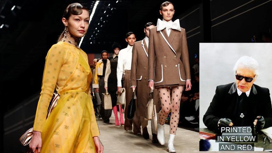 Karl Lagerfeld'in elinin değdiği son Fendi defilesi gerçekleşti