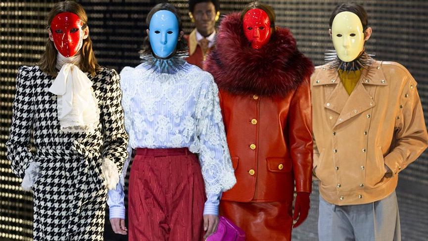 Gucci'nin 2019 Sonbahar Kış koleksiyonunda görünür ve görünmezi ayıran maskeler öne çıktı