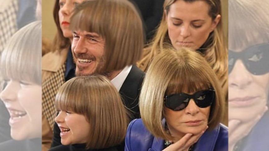 David Beckham ünlü moda editörü Anna Wintour ile dalga geçerse...