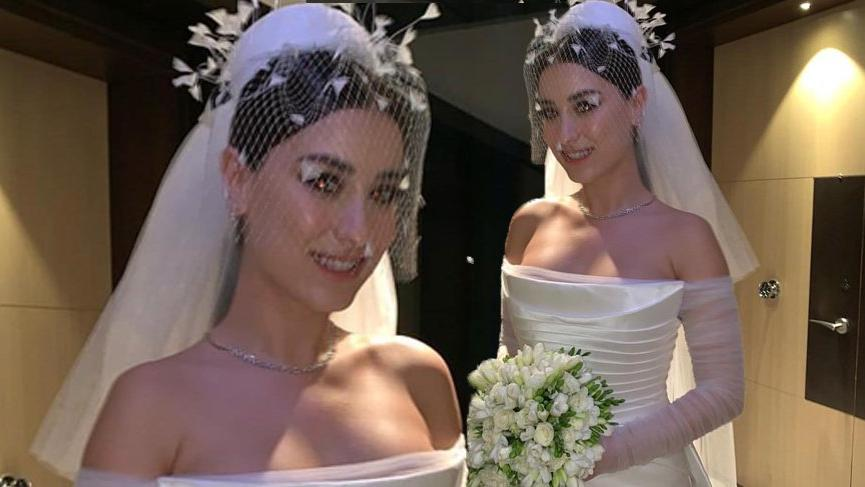 Hazal Kaya'nın gelinliği tasarlanırken, Anne Hathaway'in elbisesinden mi esinlenildi