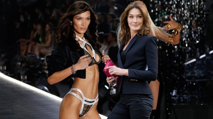 Bella Hadid ve Carla Bruni'nin şaşırtan benzerliği