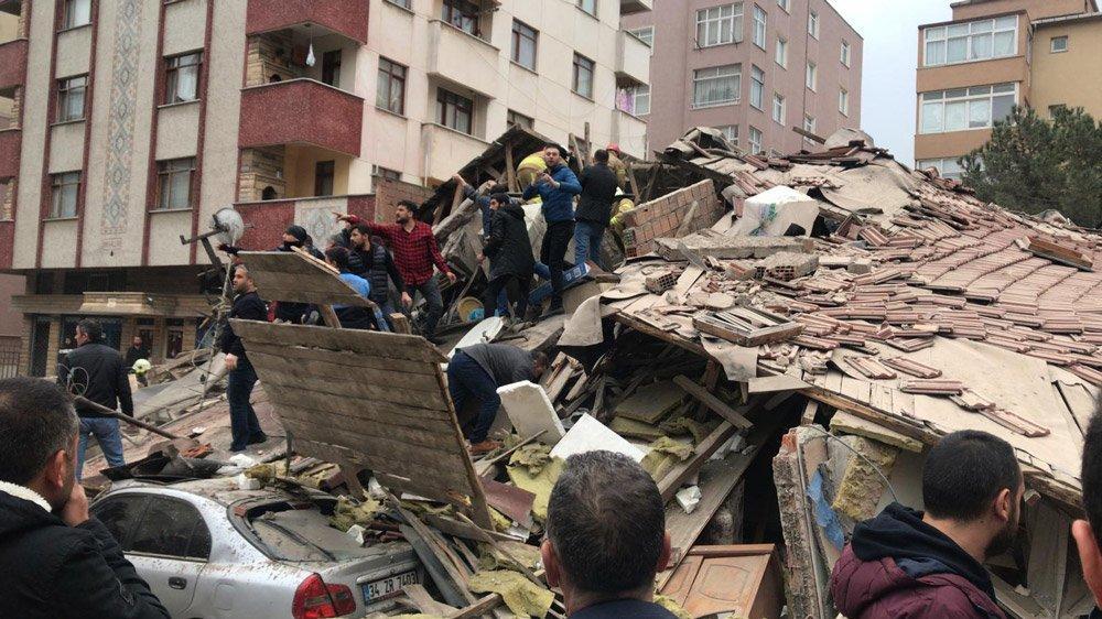 İstanbul Kartal'da 8 katlı bina çöktü: Ölen ve yaralananlar var