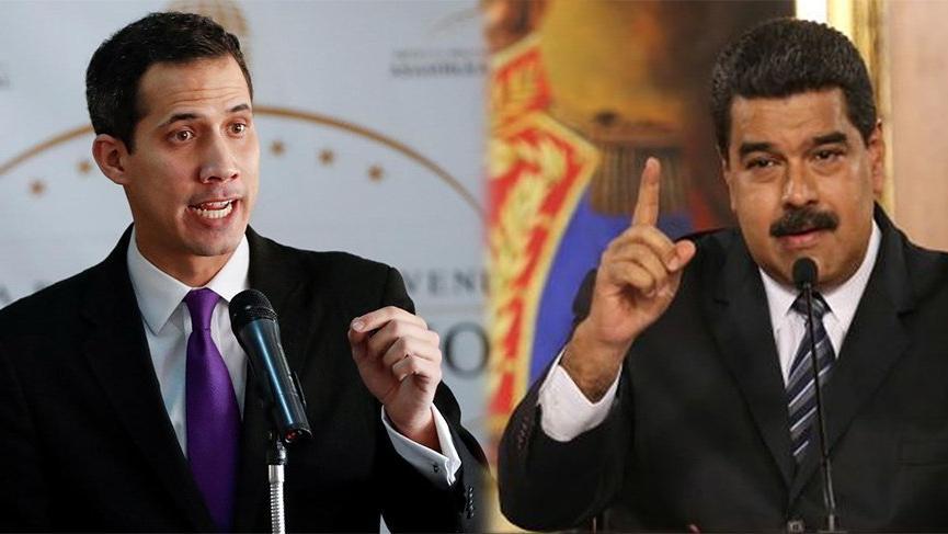 Venezuela'da tansiyon yüksek! Maduro ve Guiado'dan peş peşe açıklamalar geldi