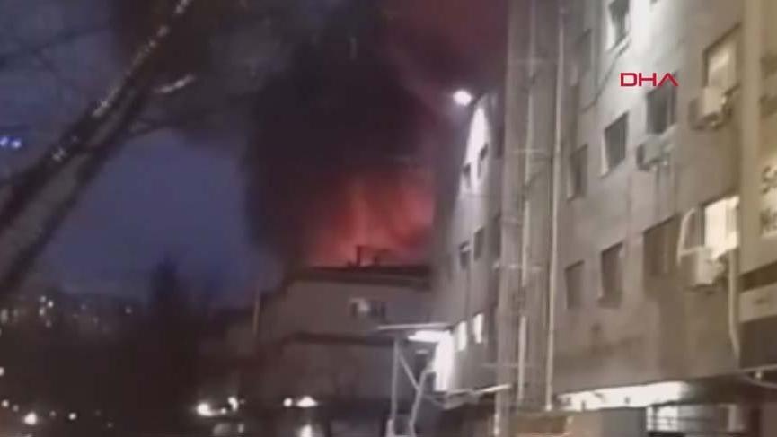 Son dakika haberi... Kağıthane'de bir iş merkezinde yangın!