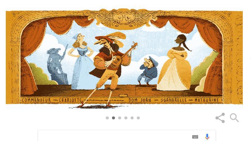 Molière kimdir? Google, Fransız yazar Molière'i Doodle ile andı!