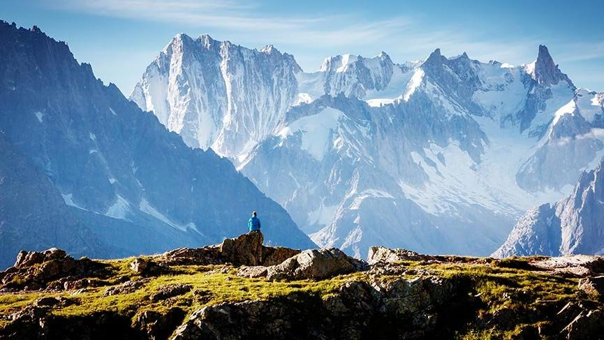Avrupa'nın zirvesi Mont Blanc