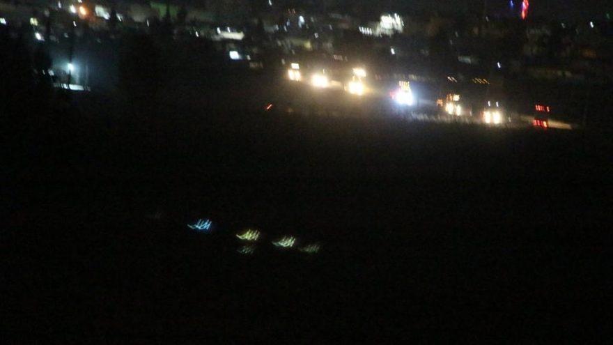 ABD konvoyu Mardin'den görüntülendi
