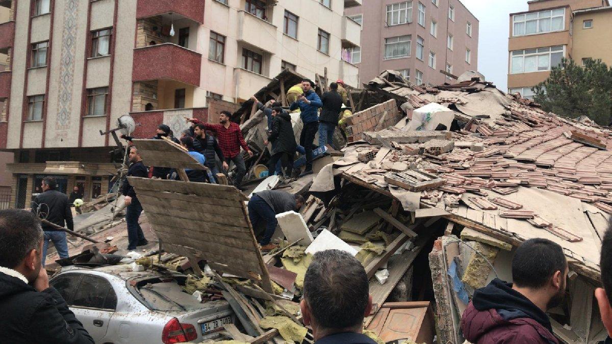 Son dakika: Kartal'da 8 katlı apartman çöktü! Olay yerinden ilk görüntüler