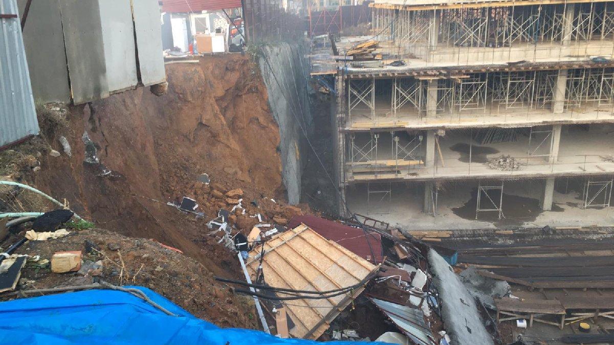 İstanbul'da yine istinat duvarı çöktü