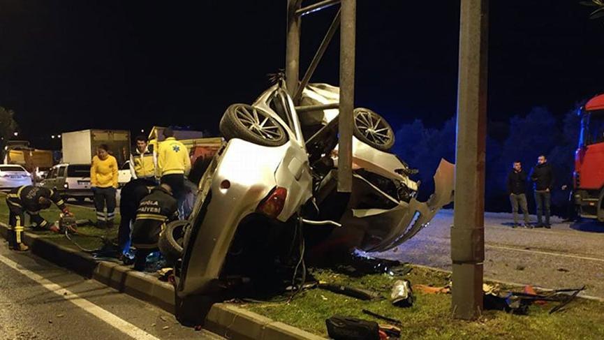 Korkunç kaza! Araç bu hale geldi