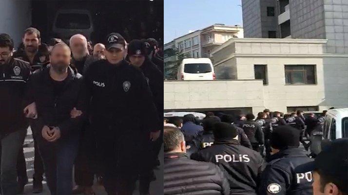 'Şahinler' suç örgütü üyeleri adliyeye gönderildi